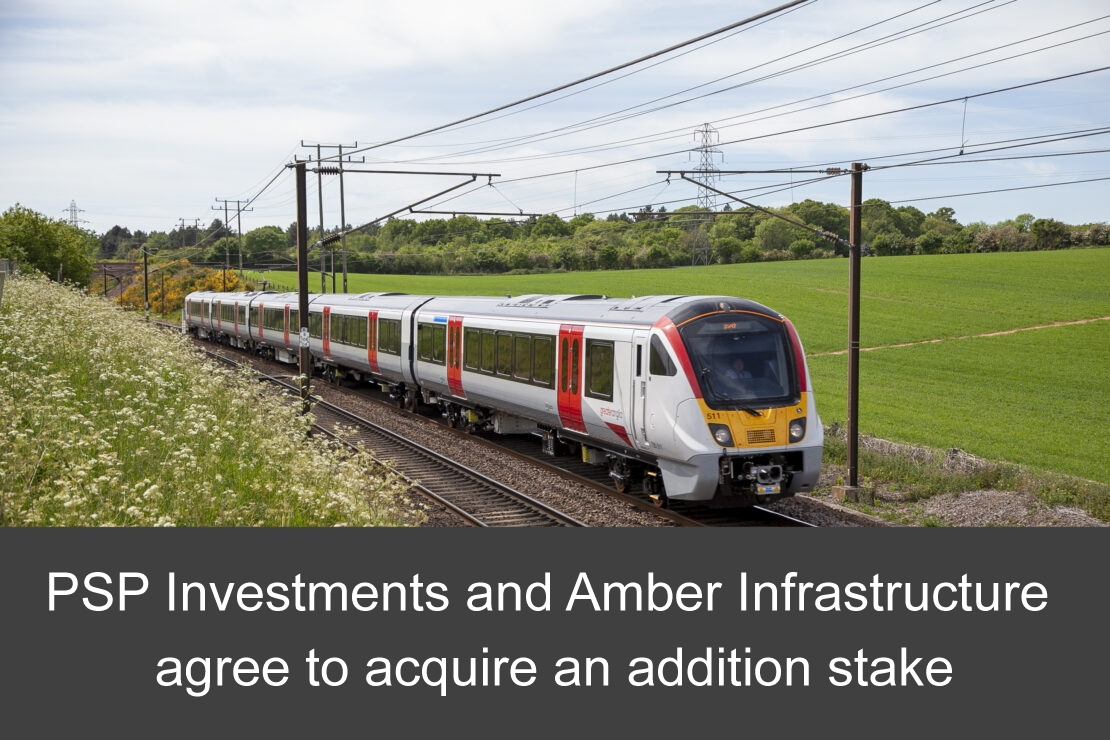Angel Trains Group – PSP Investments and Amber Infrastructure agree to acquire an addition stake